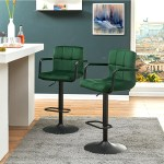 Duhome Barstools Set Of 2 Velvet Adjustable Swivel Kitchen Chair Bar Stool Chairs Counter Stools Breakfast Chairs With Arms Dark Green Walmart Com Walmart Com
