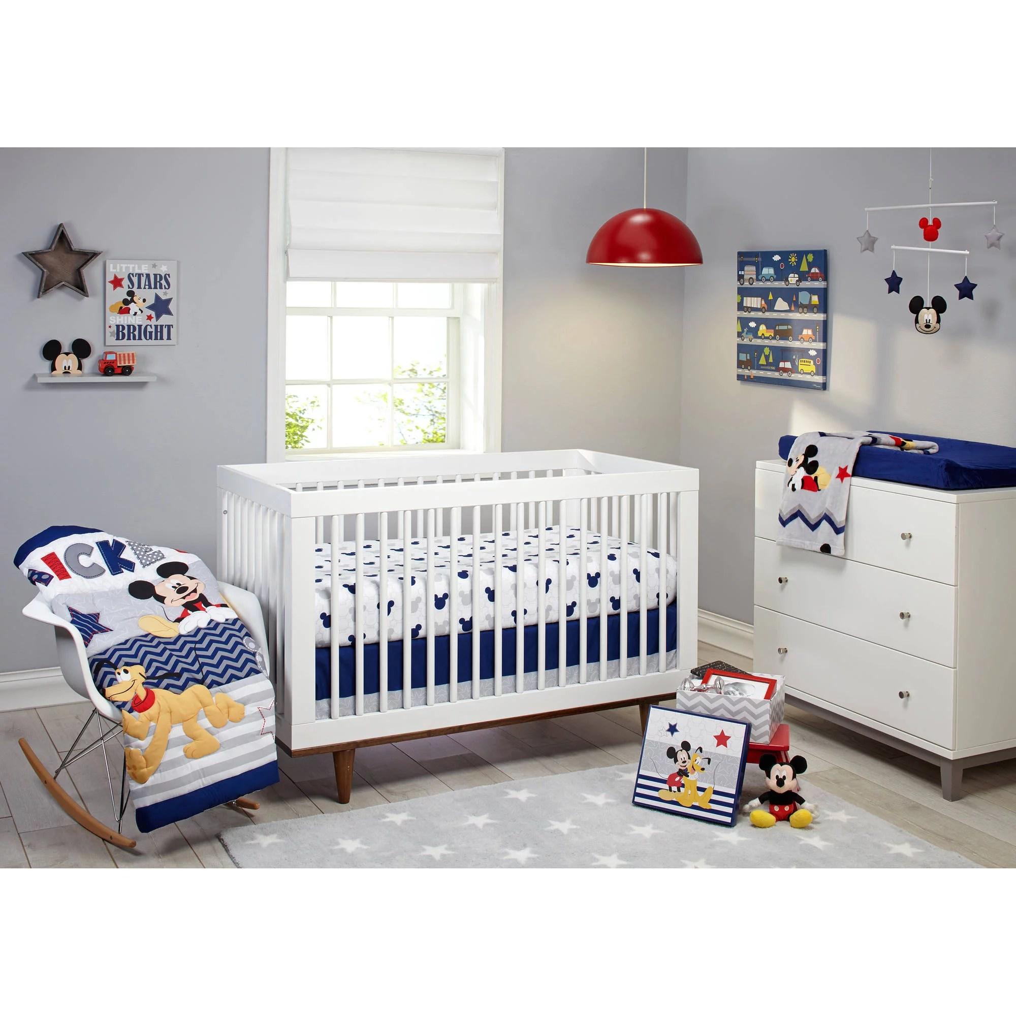 disney let s go mickey ii crib 4 piece bedding set