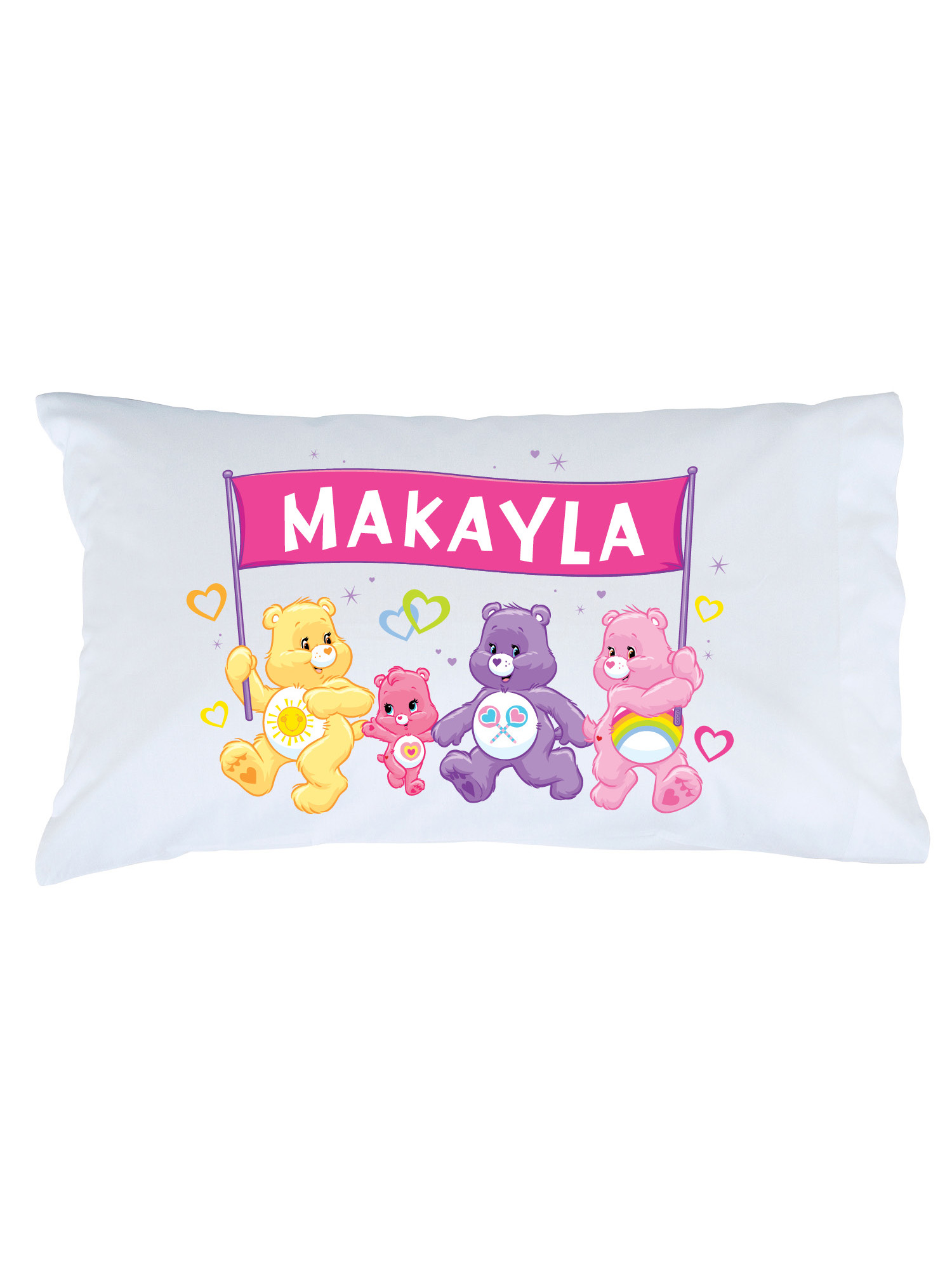 personalized care bears team care a lot pillowcase