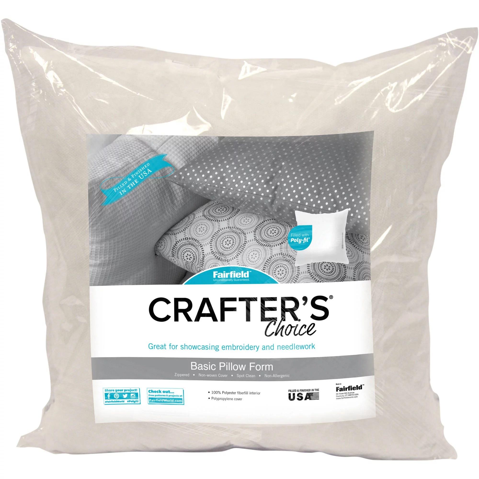 fairfield crafter s choice pillow insert 20 x 20 walmart com
