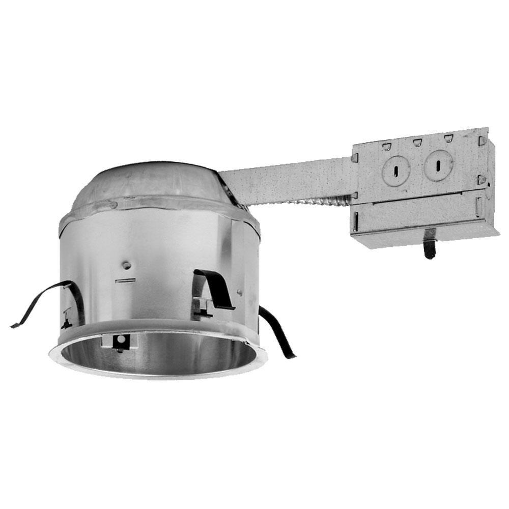 four bros lighting led 6 rm ic slope 6pk remodel led recessed can light 6 inch ic airtight sloped housing pack of 6 walmart com