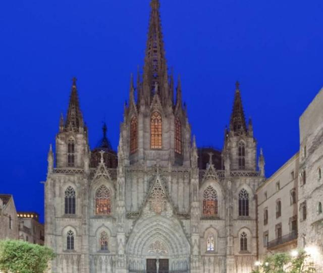 Gothic Quarter Barcelona Cathedral Barcelona Spain Print Wall Art By Rob Tilley