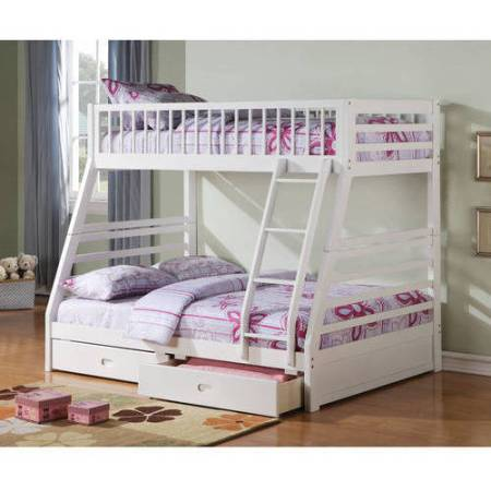 Jason Twin Over Full Wood Bunk Bed White
