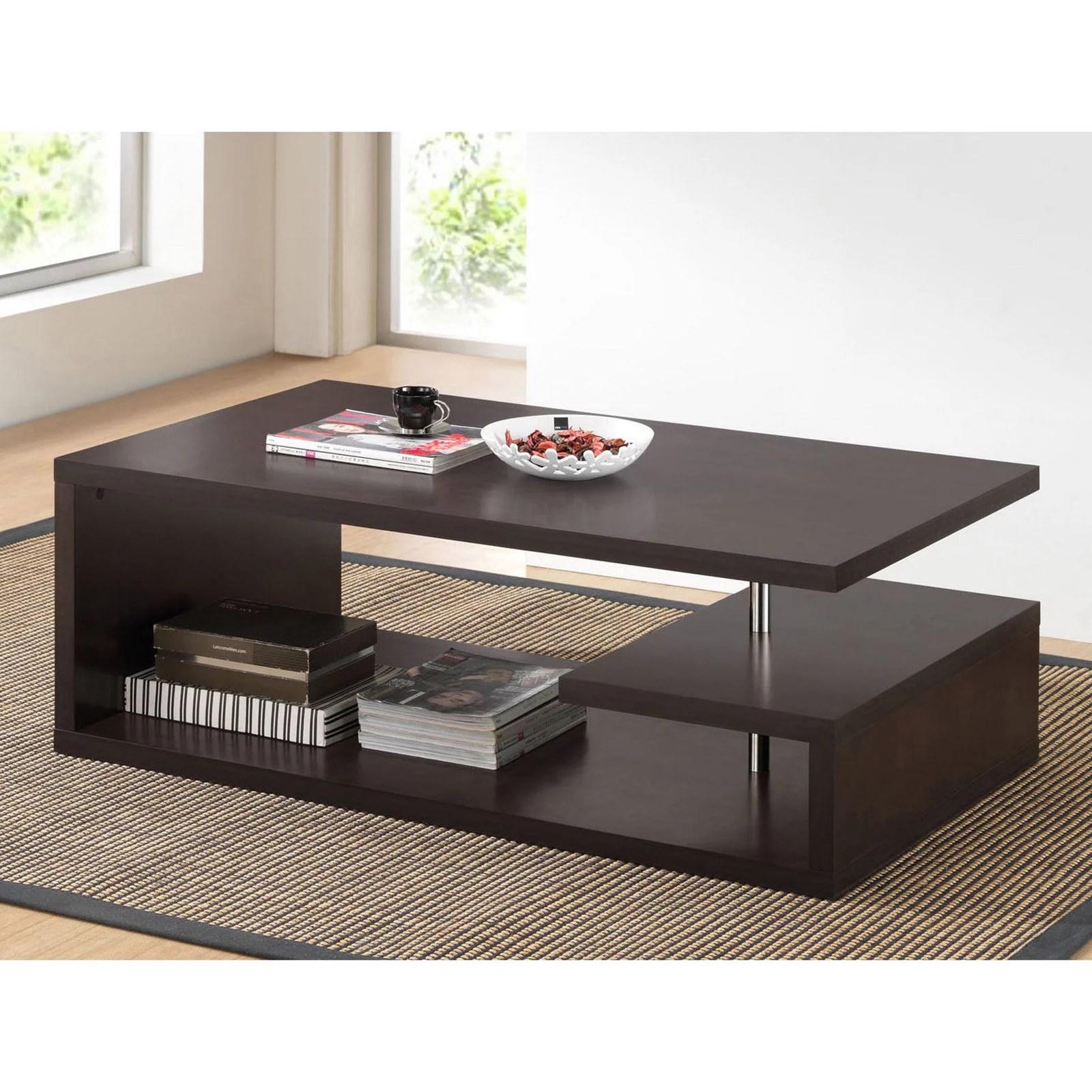 lindy dark brown modern coffee table