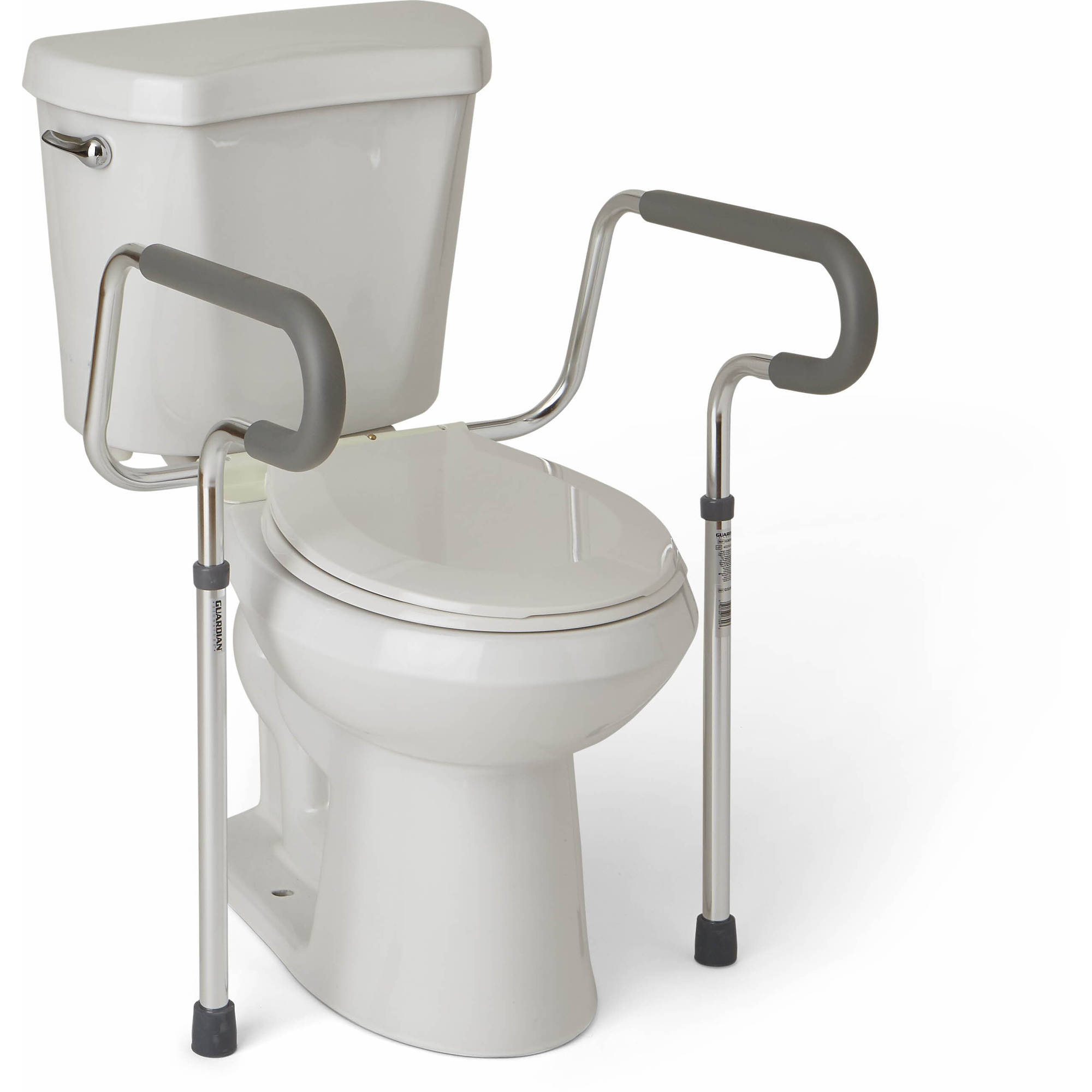 Medline Steel Foldable 3 In 1 Bedside Toilet Commode