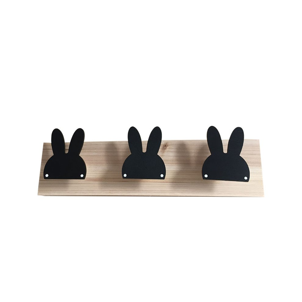 3 Hooks Wooden Coat Rack Rabbit Shape Hook Coat Hooks Wall Mounted Holder Walmart Canada