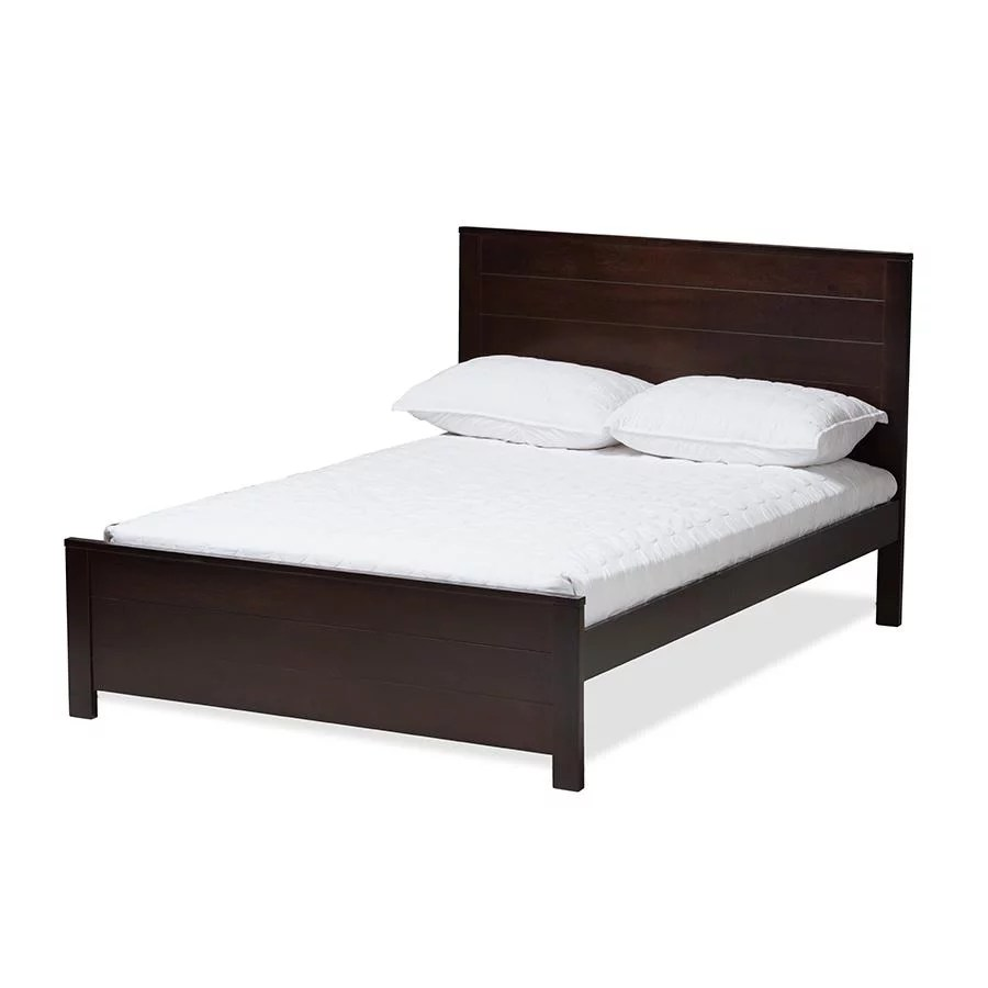 baxton studio catalina modern classic mission style brown finished wood twin platform bed
