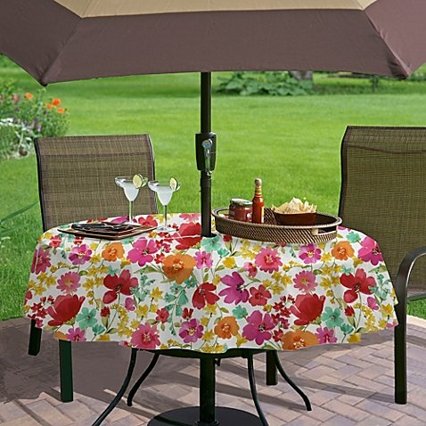 umbrella with hole zipper vinyl tablecloth victoria gardens 70 inches round