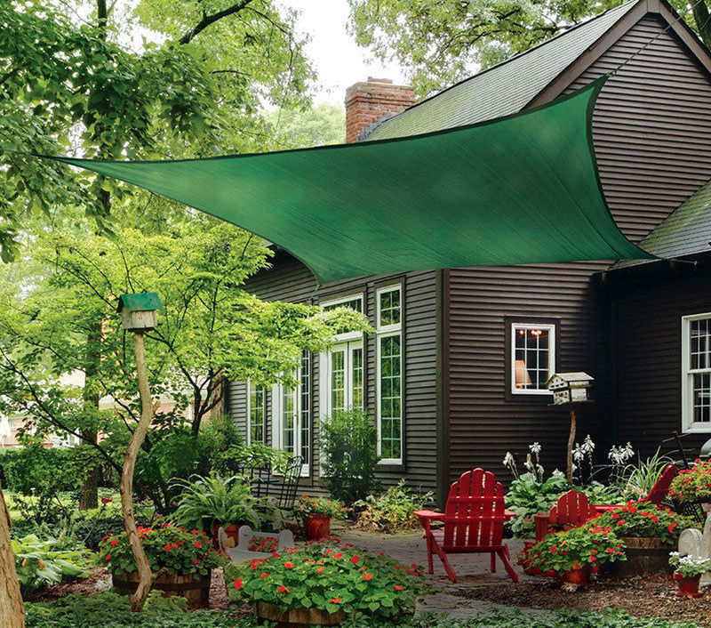 petra s 20 ft x 13 ft rectangle hunter green sun sail shade durable woven outdoor patio fabric w up to 90 uv protection 20x13 foot