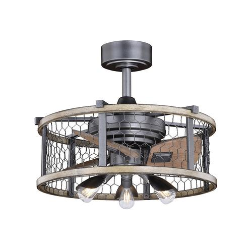 elegant home brooklyn 21 natural iron with distressed faux wood led outdoor fandelier