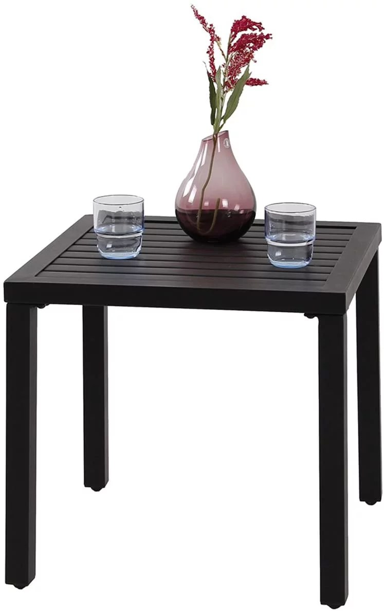 mf studio mf studio indoor outdoor small metal square side end table patio coffee bistro table black from walmart accuweather