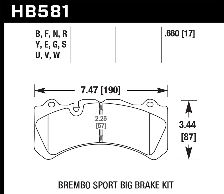 Hawk 09 Nissan Gt R R35 Brembo Blue Race Front Brake
