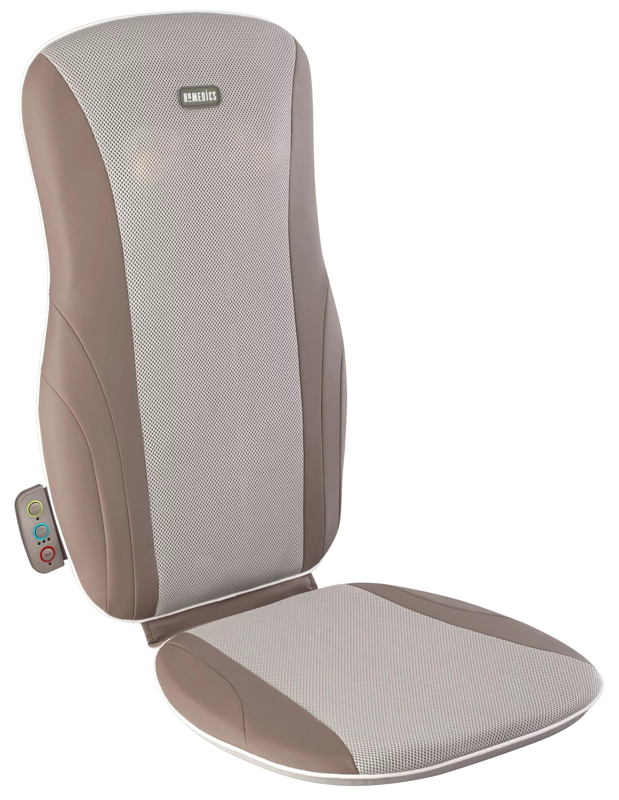homedics thera p seat cushion massager with heat deep kneading shiatsu technology for back walmart com