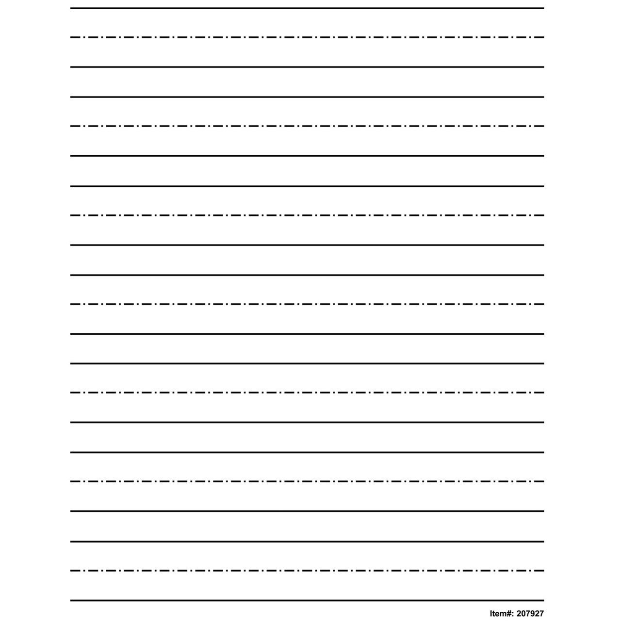 Low Vision Practice Writing Paper Bold Line Bold Lines