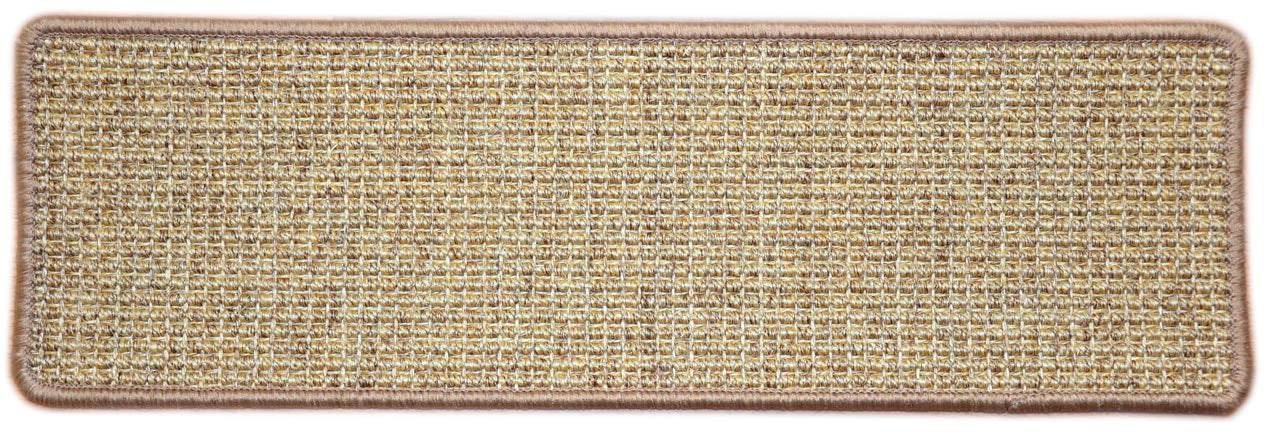 Dean Attachable Non Skid Sisal Carpet Stair Treads Desert Set | Sisal Carpet Stair Treads | Oak Valley | Skid Sisal | Stair Runner | Fiber Sisal | Landing Mat