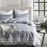 Grey Geometric Duvet Cover Set Microfiber Boho Bohemian Triangle Bedding Set Walmart Canada