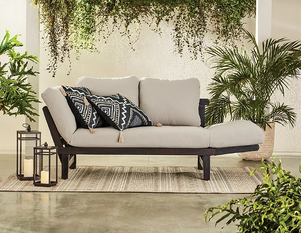 better homes gardens delahey outdoor daybed patio furniture with cushions