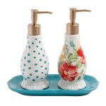 The Pioneer Woman Vintage Floral Soap And Lotion Set Walmart Com Walmart Com