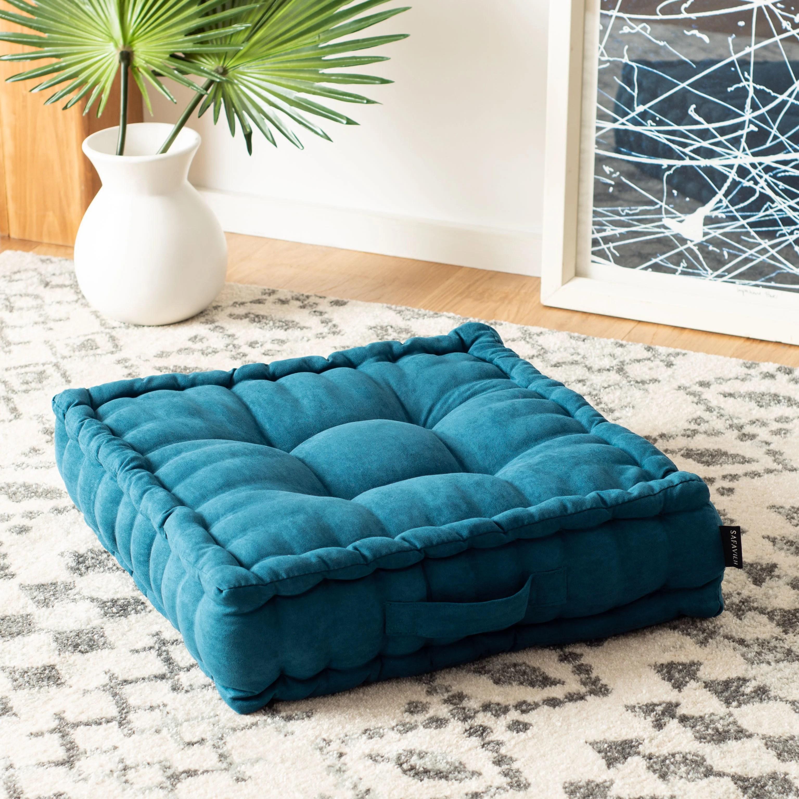 safavieh gardenia 18 x 18 solid square tufted floor pillow walmart com