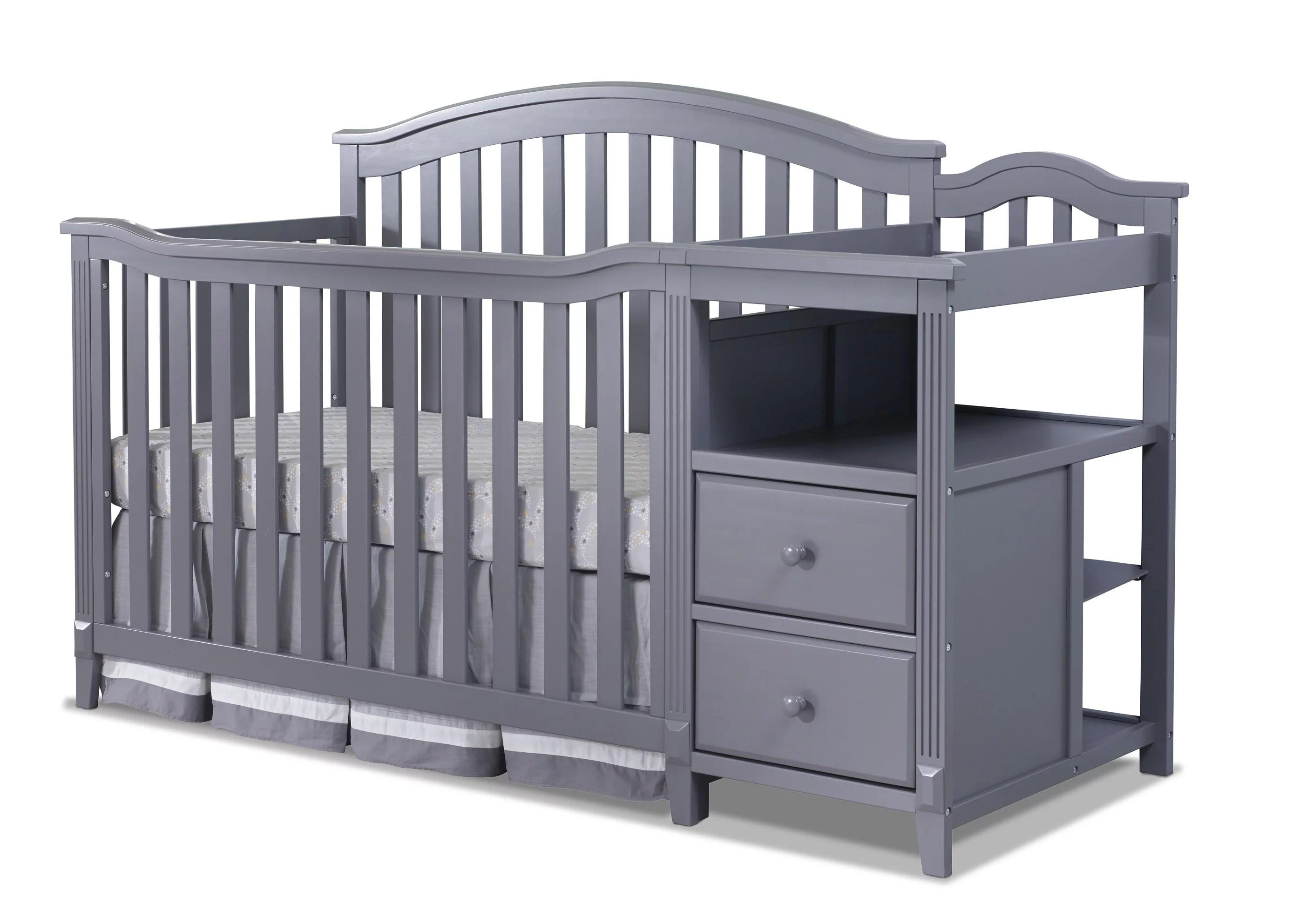 sorelle berkley 4 in 1 convertible crib and changer gray walmart com