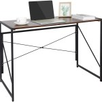 Zenstyle Folding Computer Writing Desk Wood And Metal Study Desk Pc Laptop Home Office Study Table Walmart Com Walmart Com