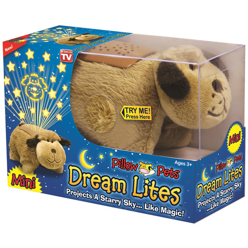 dream lites mini pillow pet that projects a starry sky characters may vary as seen on tv