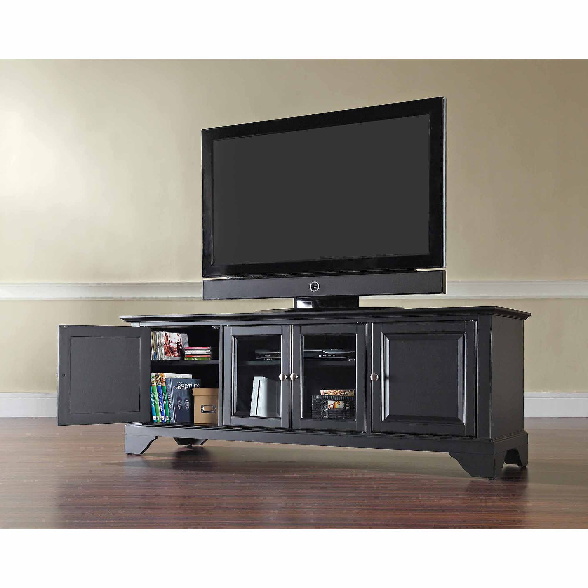 Crosley Furniture Lafayette Low Profile Tv Stand For Tvs Up To 60 Walmart Com