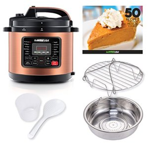 GoWISE USA 6-Quart 12-in-1 Electric Programmable Pressure Cooker, Copper
