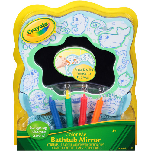 Crayola Color Me Bathtub Mirror With Suction Cups 4