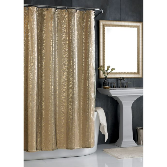 sheer bliss 72 inch w x 96 inch l extra long shower curtain in gold