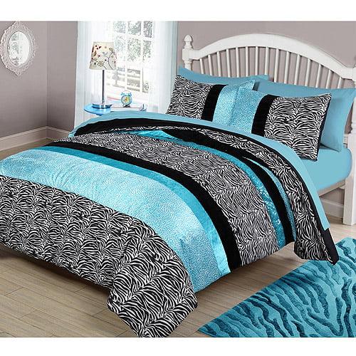 Your Zone Zebra Bedding Comforter Set Walmart Com