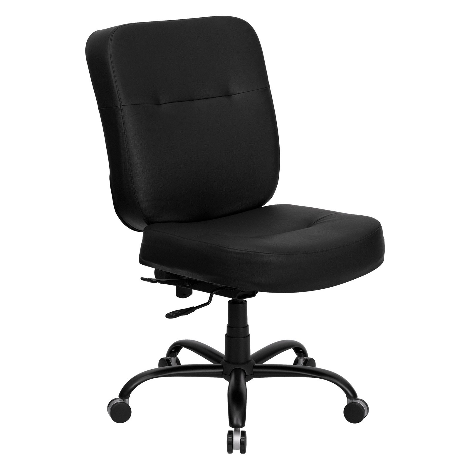 Hercules Big And Tall Leather Office Task Chair Black