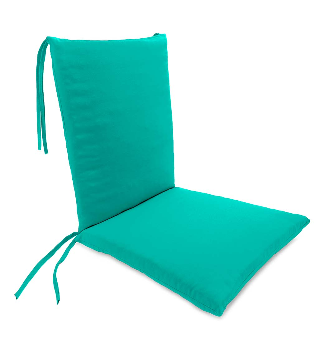 weather resistant outdoor rocker chair cushion with ties