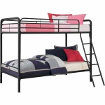 Dhp Twin Over Twin Metal Bunk Bed Multiple Colors Black Walmart Com Walmart Com