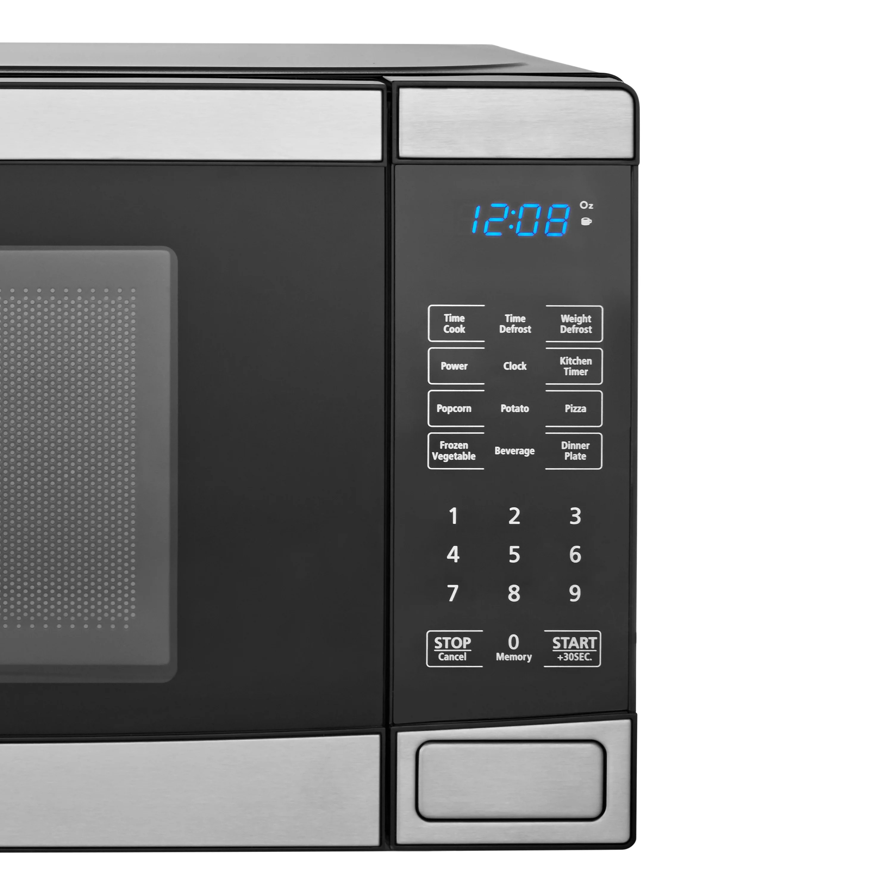 mainstays 0 7 cu ft 700w stainless steel microwave with 10 power levels