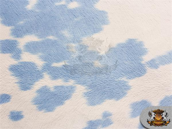 suede velvet cow print fabric udder madness upholstery blue 54 wide sold by the yard