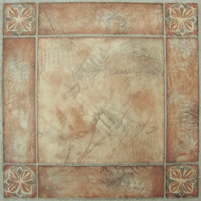 achim nexus 12 x12 1 2mm peel stick vinyl floor tiles 20 tiles 20 sq ft spanish rose walmart com