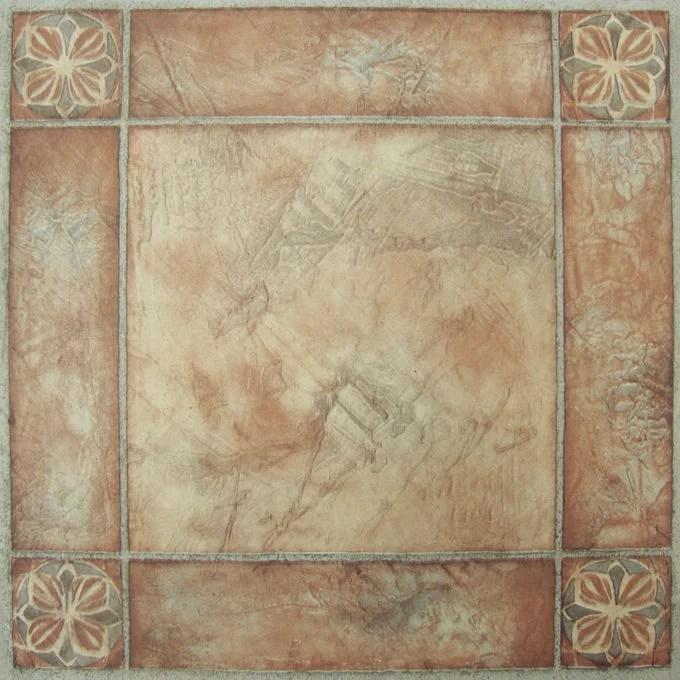 achim nexus 12 x12 1 2mm peel stick vinyl floor tiles 20 tiles 20 sq ft spanish rose