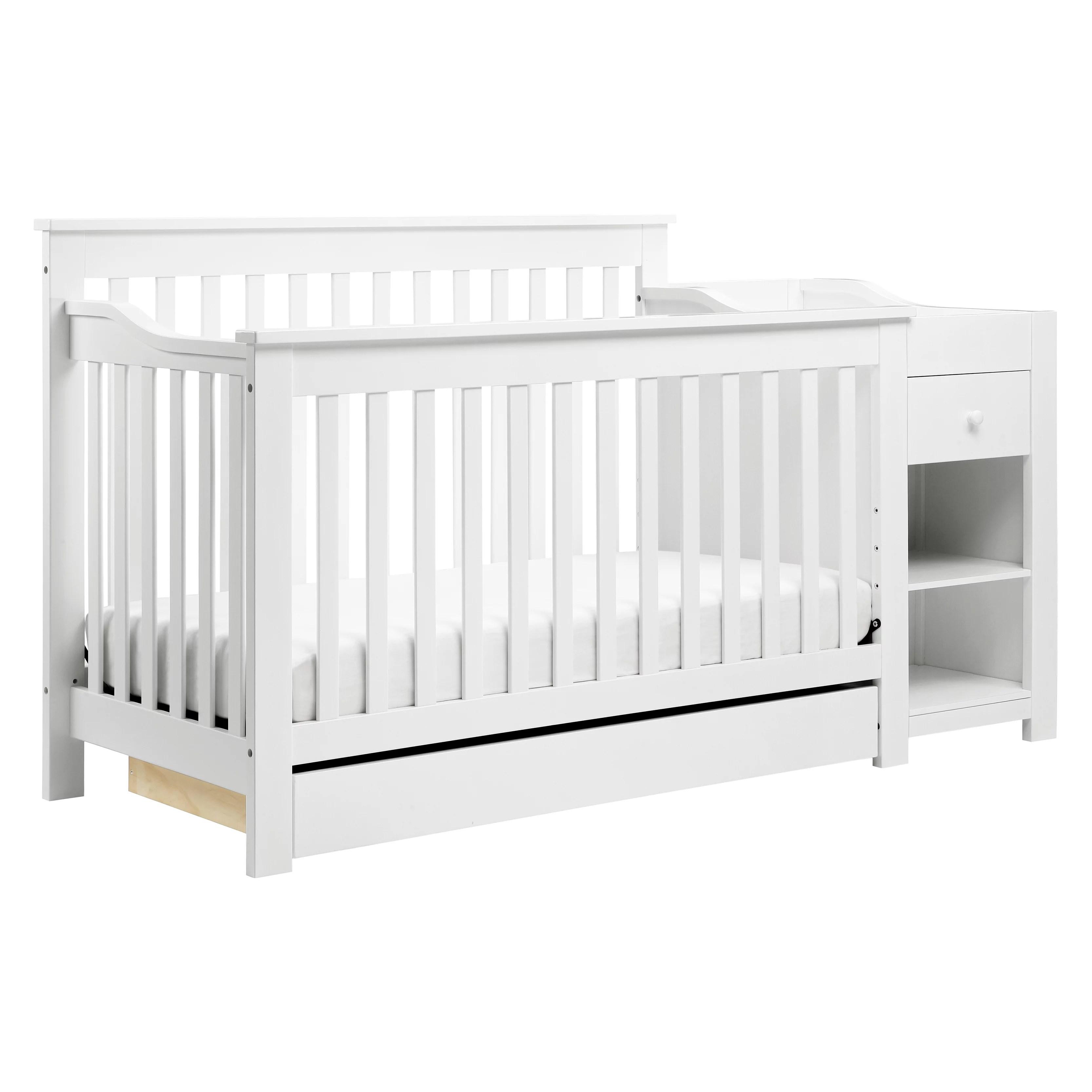 davinci piedmont 4 in 1 convertible crib and changer white