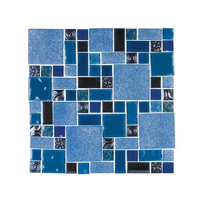 national pool tile sol cleo 1 x 10 sq ft soleil glass mosaic tile cleo