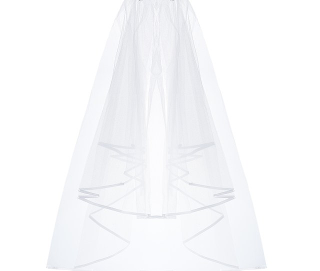 Uarter Bridal Wedding Veil Inserted Tulle Veils With Comb