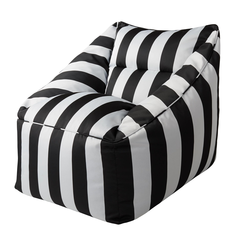 better homes gardens dream bean patio bean bag chair black and white cabana stripes