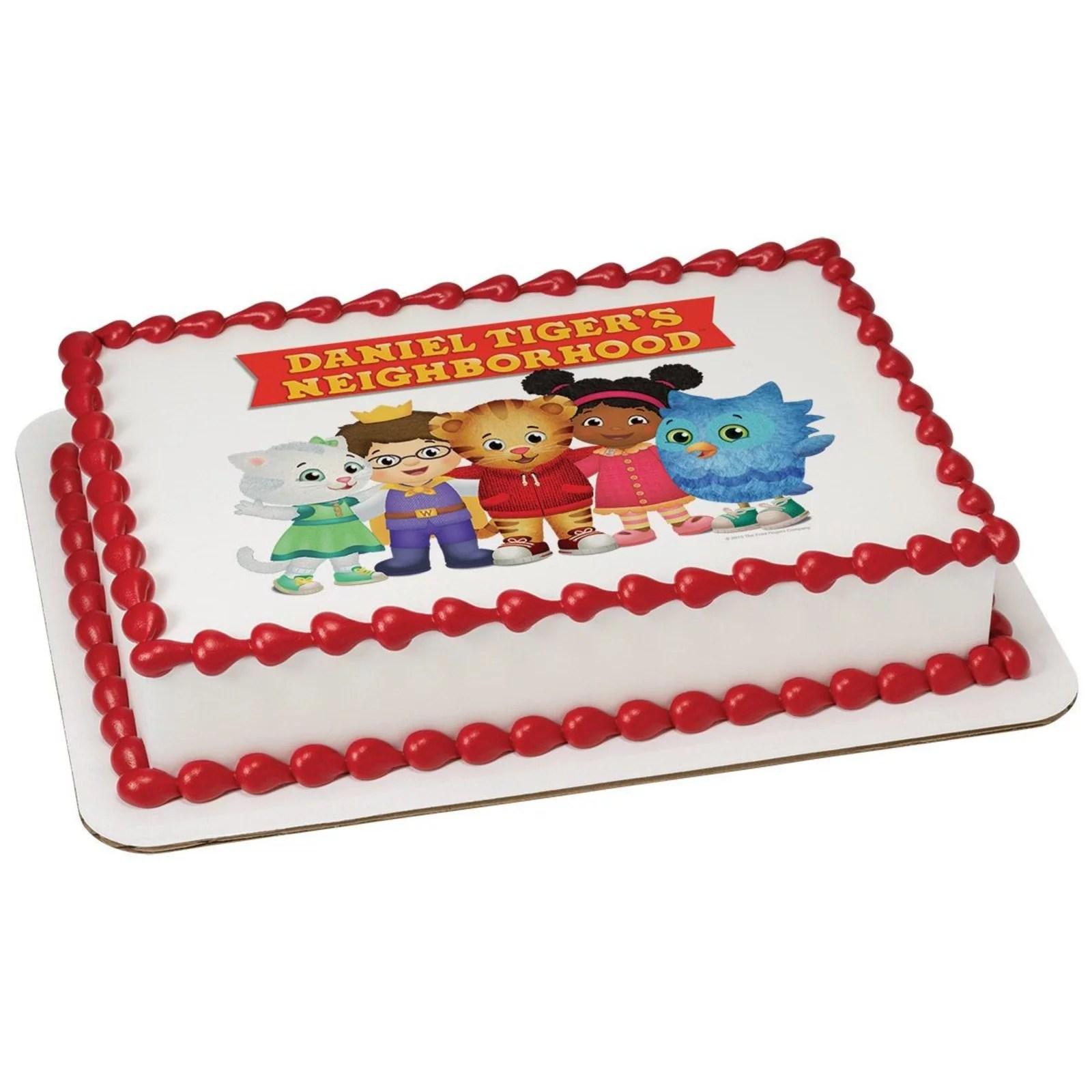 Daniel Tiger Neighborhood Friends Quarter Sheet Edible Cake Topper Each Walmart Com Walmart Com