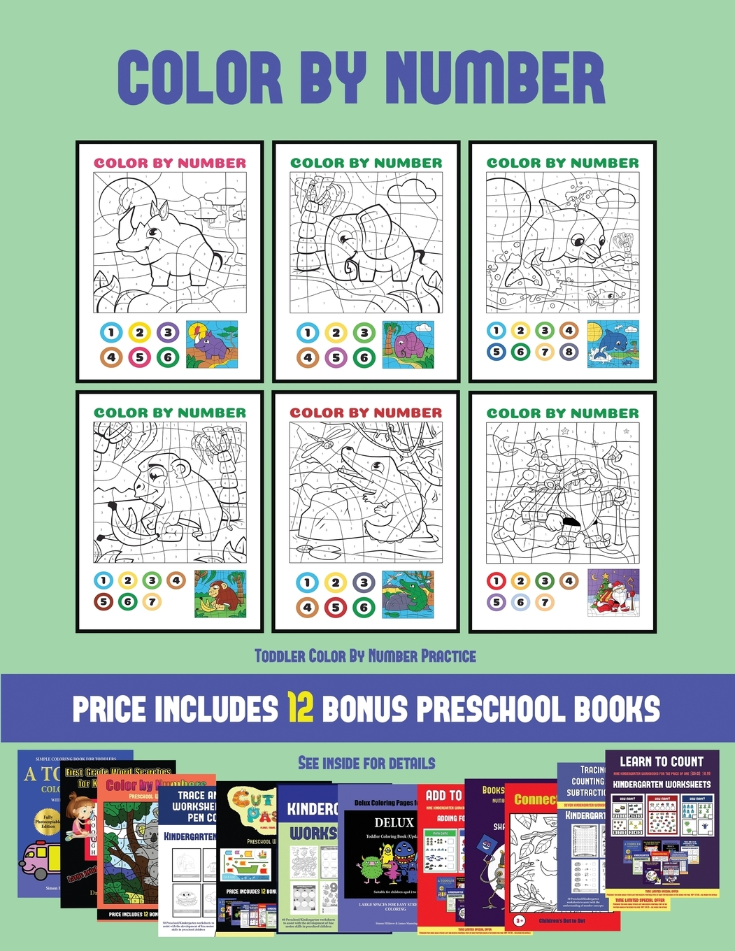 Toddler Color By Number Practice Toddler Color By Number