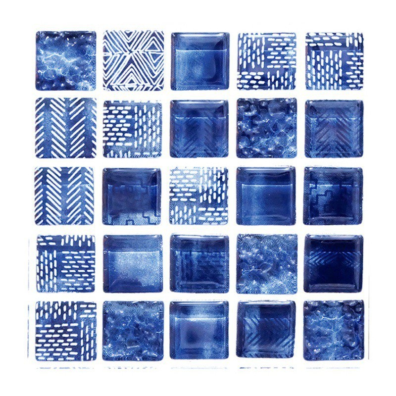 6 pieces tile stickers peel and stick tile 3d self adhesive tile stickers for kitchen bathroom counter top mirror background and more