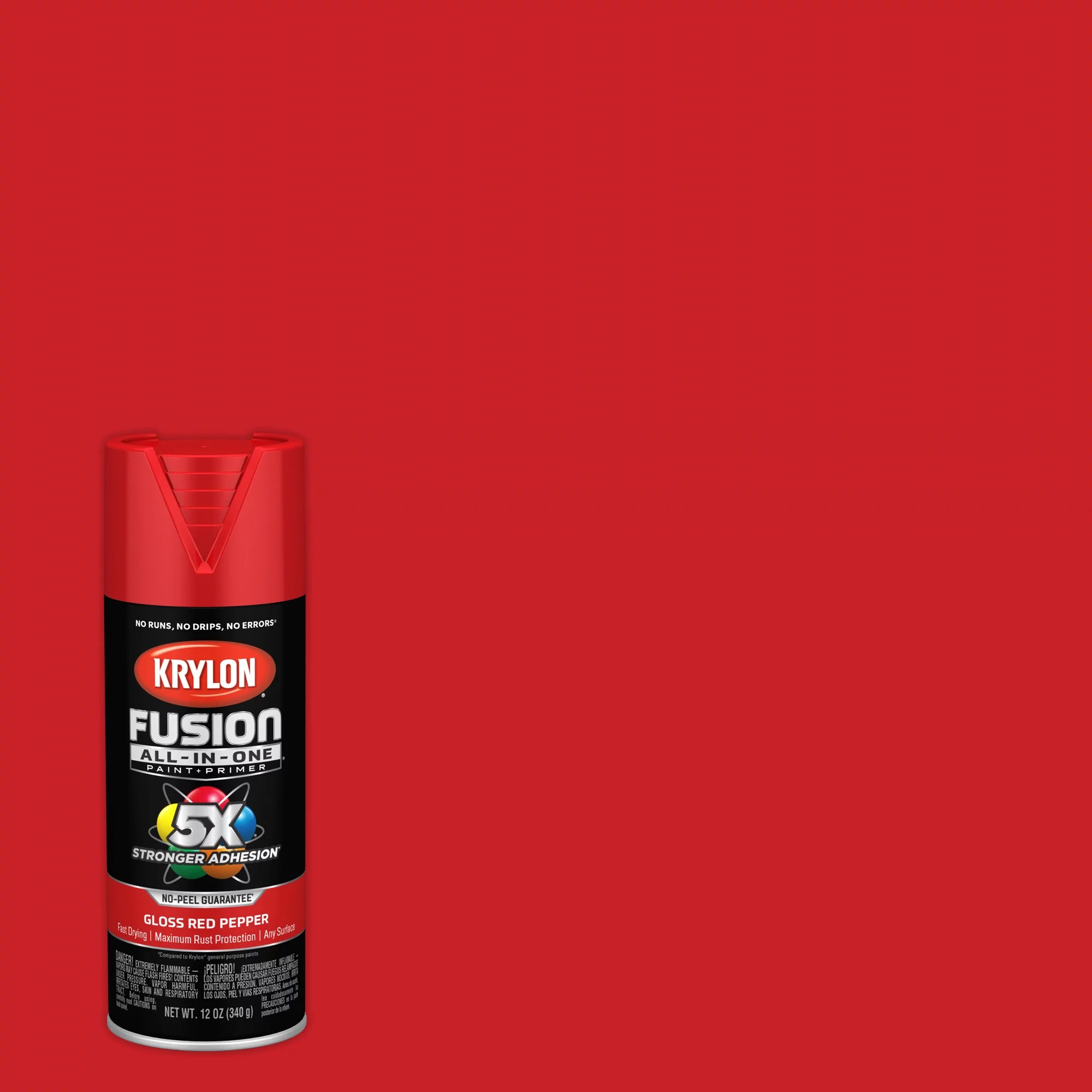krylon fusion all in one spray paint matte fire red 12 oz