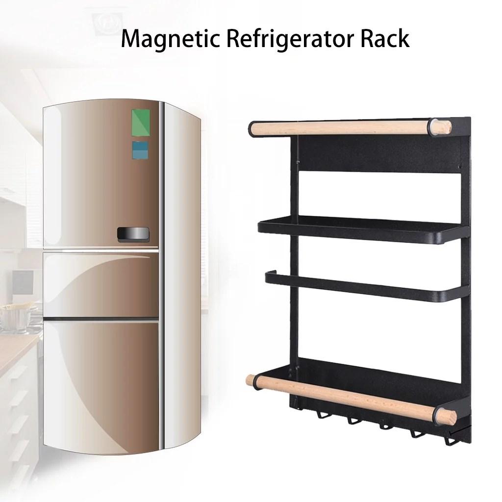 snorda kitchen rack magnetic refrigerator storage rack heavy duty fridge organizer