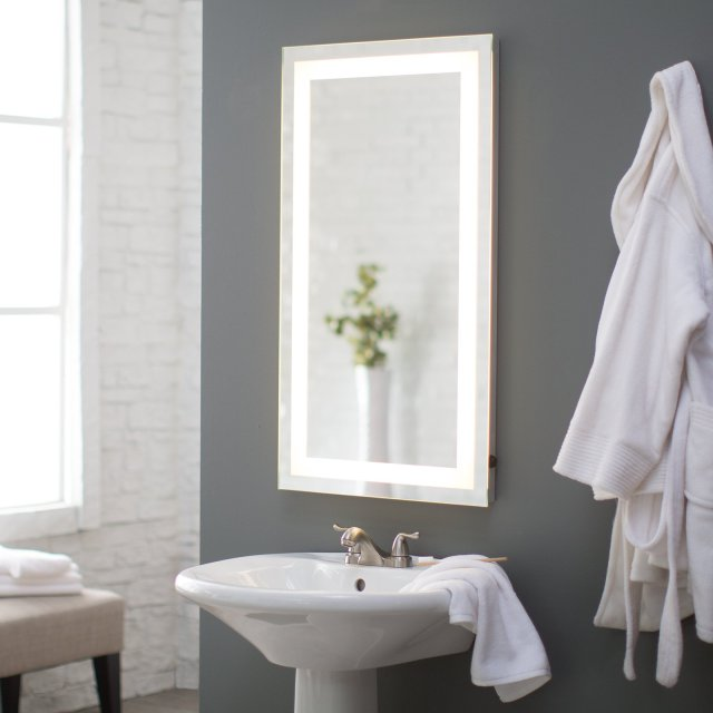 Afina Illume LED Backlit Rectangular Bathroom Mirror Walmart