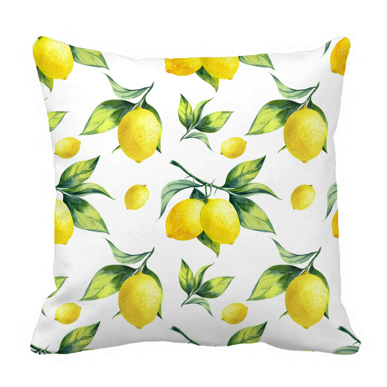 eczjnt lemon white pillow case pillow cover cushion cover 16x16 inch