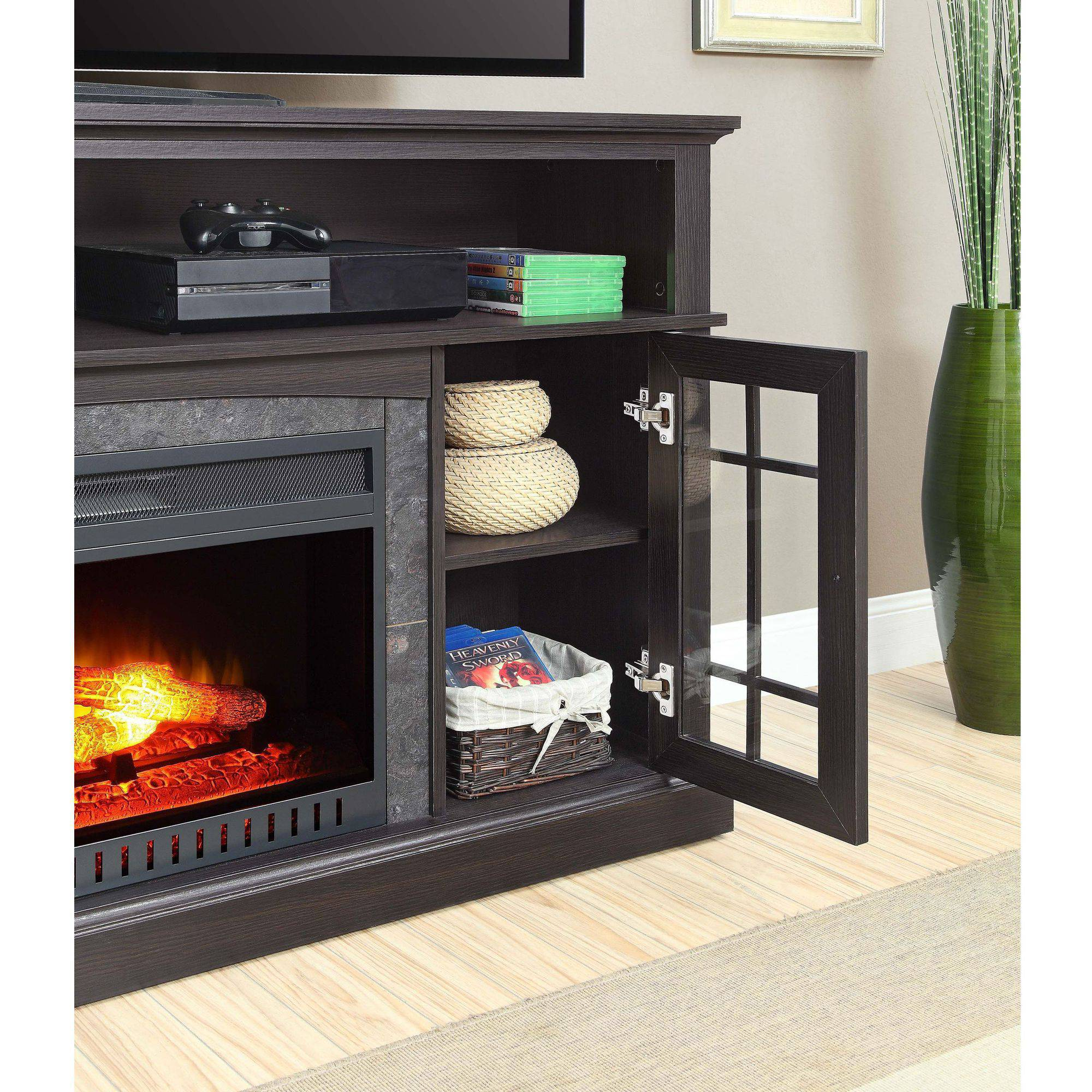 20 Of The Best Ideas For White Electric Fireplace Tv Stand